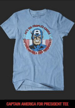 CAPTAIN AMERICA FOR PRESIDENT TEE