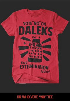 "DR.  WHO VOTE ""NO"" TEE"