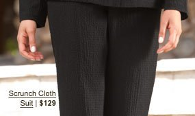 Scrunch Cloth Suit | $129