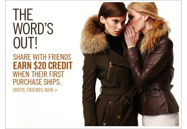 Invite Friends, Get $20 Credit