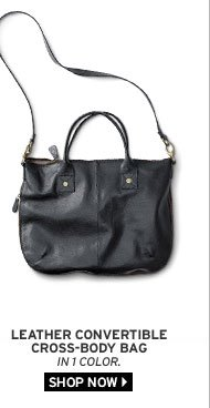 Leather Convertible Cross-Body Bag