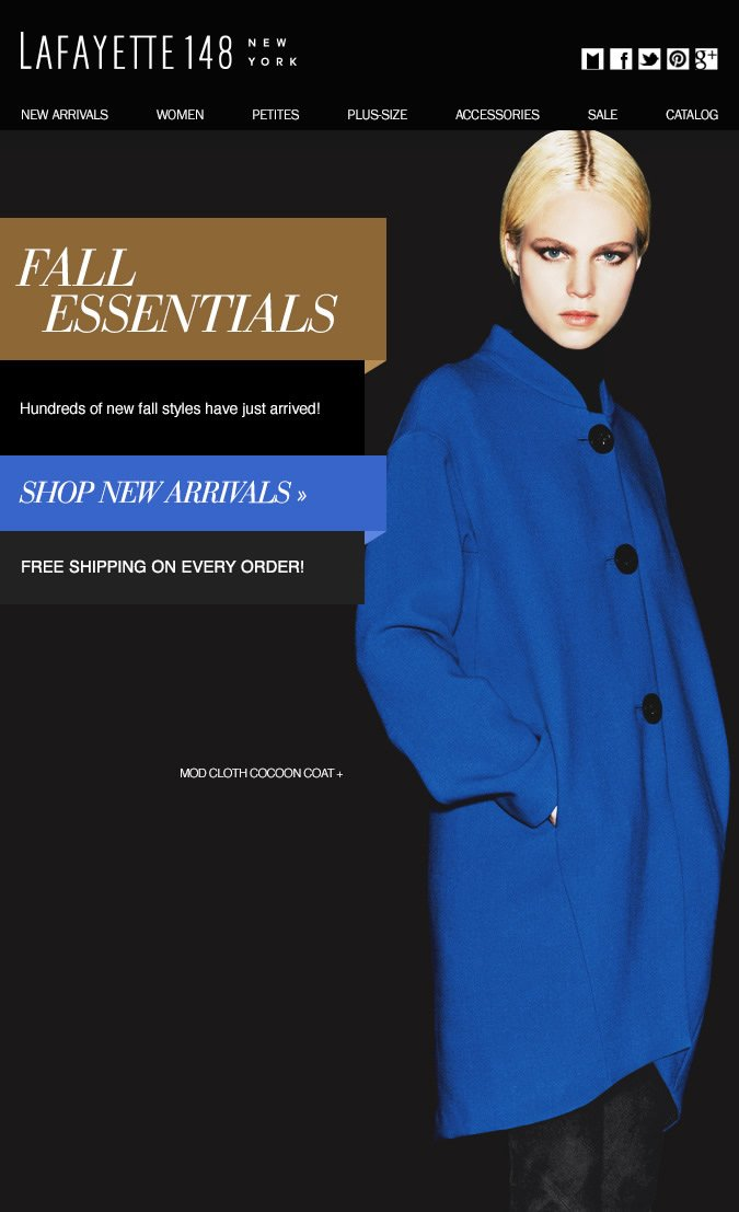 NEW Arrivals: Essential for Fall