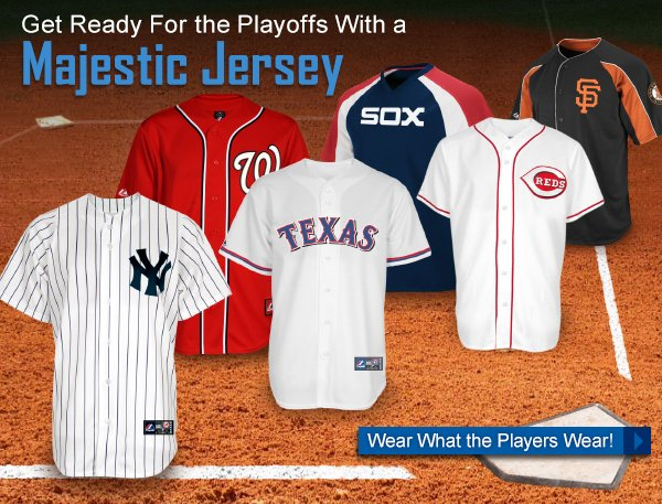 Get Ready For the Playoffs With a Majestic Jersey!