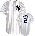 Derek Jeter Youth New York Yankees Home Pinstripe Replica Jersey