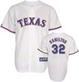 Josh Hamilton Youth Texas Rangers Home White Replica Jersey