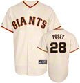 Buster Posey Jersey: Adult Home Ivory Replica #28 San Francisco Giants Jersey