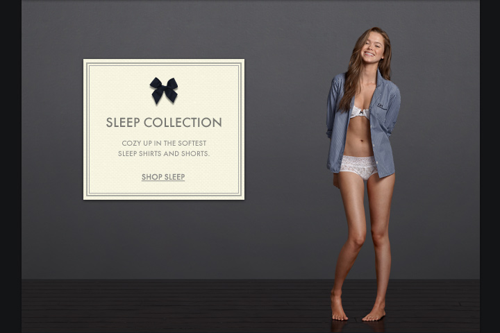 SLEEP COLLECTION COZY UP IN THE SOFTEST SLEEP SHIRTS AND SHORTS. SHOP SLEEP