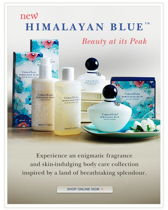 New Himalayan Blue collection. Shop Online.