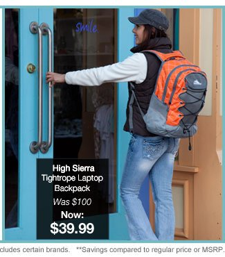 Shop High Sierra Tightrope Laptop Backpack