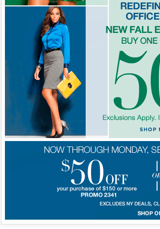 Shop New Fall essentials Buy One Get One 50% Off. Shop Now!