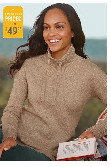Mockneck Tunic Sweatshirt Sweater