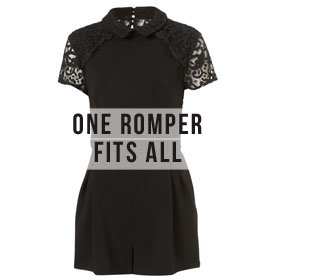 Lace Collared Playsuit