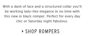 ONE ROMPER FITS ALL - Shop Rompers