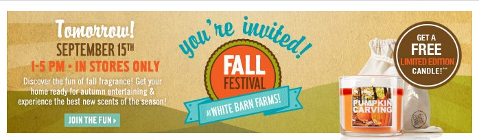 Join us at the Fall Festival!