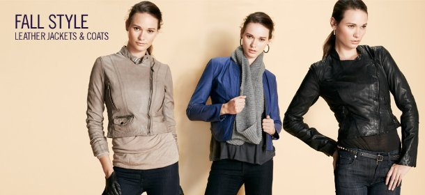 FALL STYLE: LEATHER JACKETS & COATS, Event Ends September 18, 9:00 AM PT >