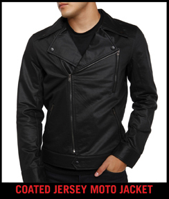 COATED JERSEY MOTO JACKET