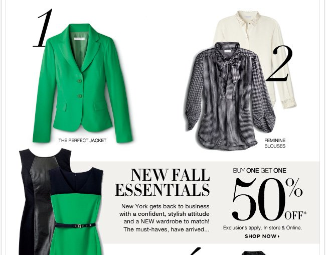 Shop Fall Essentials now Buy One Get One 50% Off! And save with our in-store coupon, now through Monday! Shop now