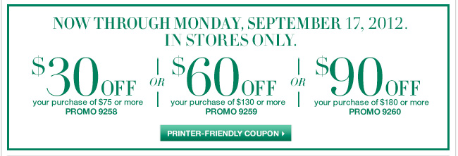 Extended through Monday. Save with this In-Store coupon! Shop now