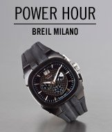 Power Hour. Breil Milano Men's Eros Chronograph Watch.