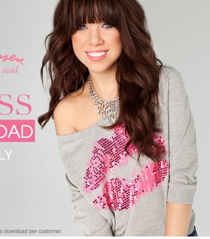 In Stores Only - Free Download - Carly Rae Jepsen For Wet Seal