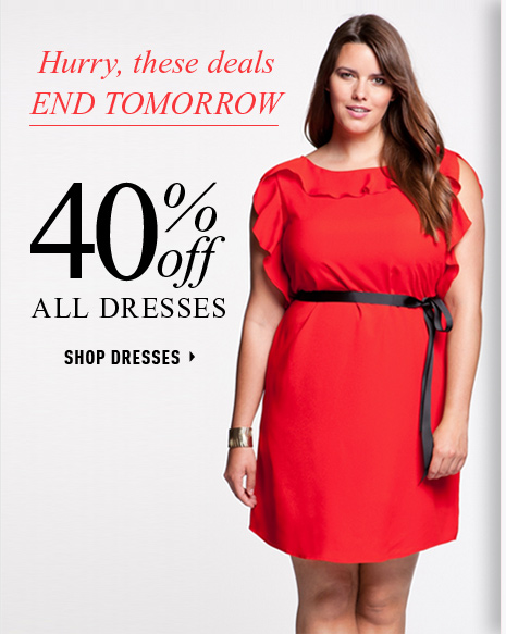 Hurry, these deals END TOMORROW 40% OFF All Dresses