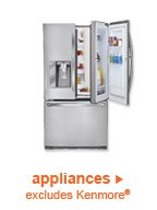 appliances | excludes Kenmore(R)