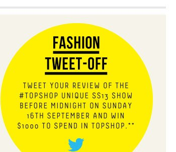 FASHION TWEET-OFF - Be part of a fashion first
