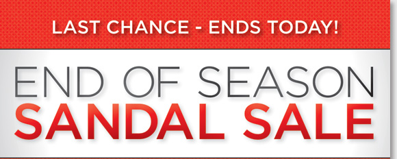 Today's the LAST CHANCE to save during our End of Season Sandal Sale! Find huge savings with the lowest prices of the year on the best styles from Dansko, ECCO, Umberto Raffini, ABEO B.I.O.system, MBT and more for women and men! Hurry and shop now to find the best selection online and in-stores at The Walking Company.
