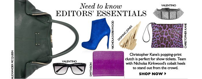 NEED TO KNOW – EDITORS' ESSENTIALS – Christopher Kane's popping-print clutch is 