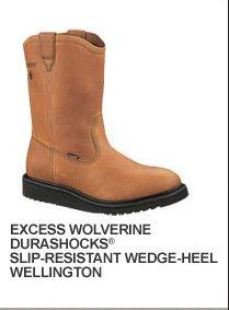 Excess Wolverine Durashocks Slip-Resistant Wedge-Heel Wellington