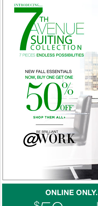 Fall Essentials: Buy One Get One 50% Off! + a coupon.Shop Now!