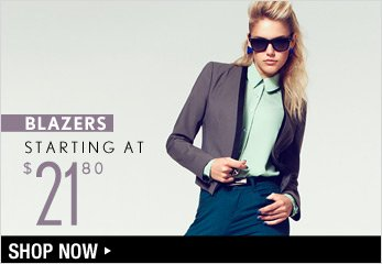 Blazers Starting at $21.80 - Shop Now