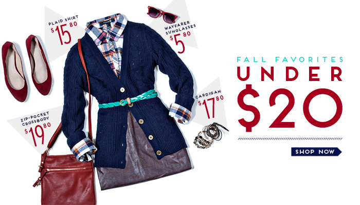 Our Fall Favorites Under $20 - Shop Now