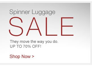 Shop Spinner Luggage Sale