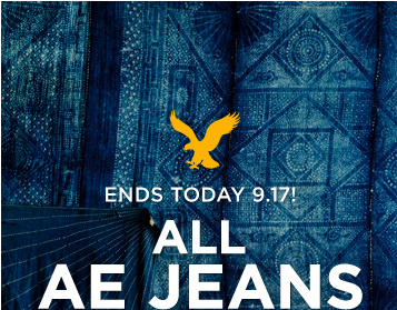 Ends Today 9.17! All AE Jeans
