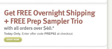 Get FREE Overnight Shipping + 