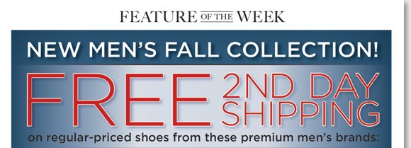Feature of the Week: Enjoy FREE 2nd Day Shipping* on all regular-priced styles in our NEW Men's Fall Collection! Featuring great styles from ECCO, ABEO SMARTsystem, Dansko, Thad Stuart and more, stay comfortable in the best styles from premium brands. See the entire collection now at The Walking Company.