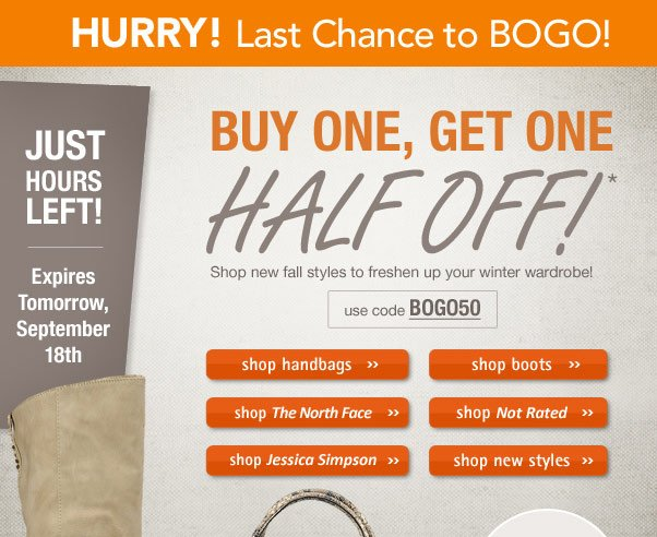 Hurry - BOGO ends soon!