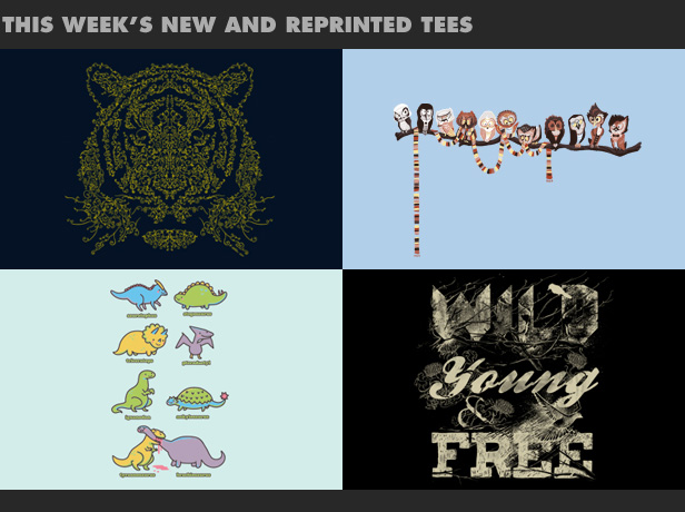 This week's new and reprinted tees.