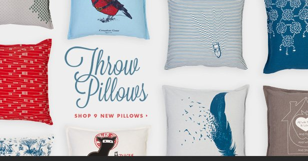 Throw pillows. Shop 9 new pillows.