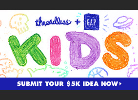 Threadless + Gap Kids - Submit your idea now.