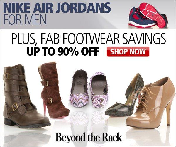 Nike Air Jordans, and Fab Footwear