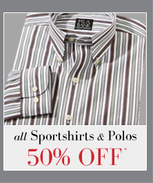 50% OFF* All Sportshirts & Polos