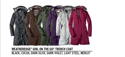 WeatherEdge® Girl on the Go® Trench Coat