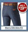 Shop for Wrangler Men's 936 Slim Fit Jeans