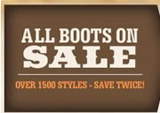 All Boots on Sale Banner