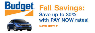 Budget® | Fall Savings: Save up to 30% with PAY NOW rates! | save now