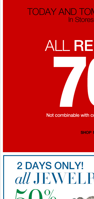 Today & Tomorrow Only! 70% Off All Redlines! Shop Now!