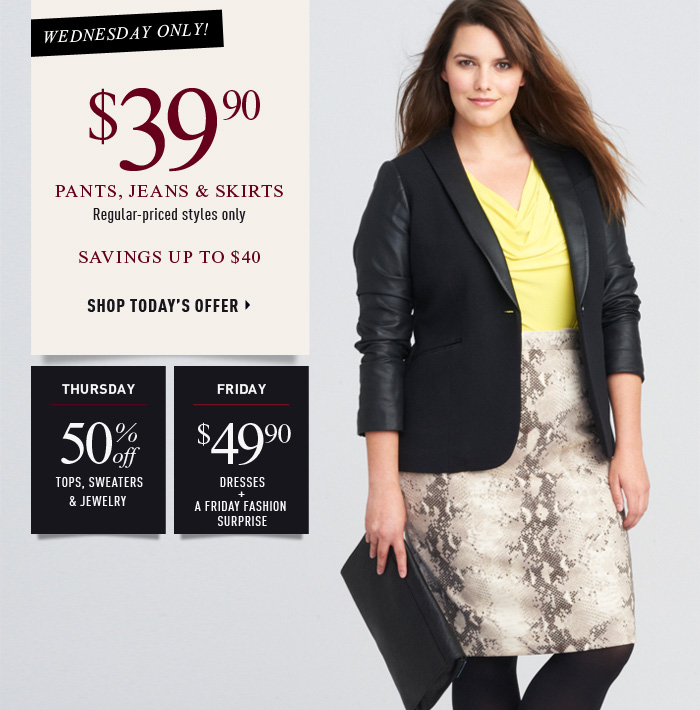 Wednesday Only! $39.90 Pants, Jeans & Skirts