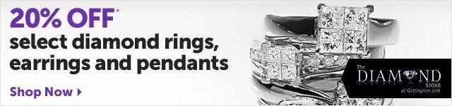 20% OFF select diamond rings, earrings and pendants* - Shop Now